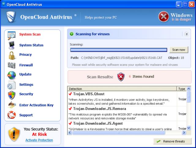 OpenCloud Antivirus snapshot