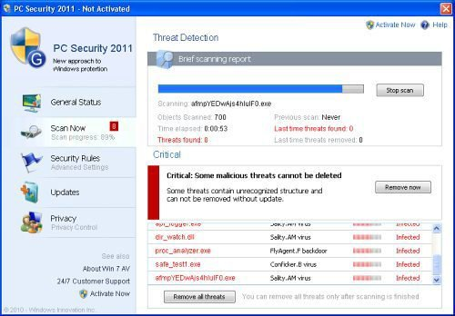 PC Security 2011 snapshot