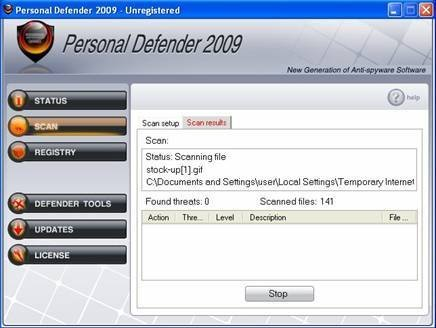Personal Defender 2009 snapshot