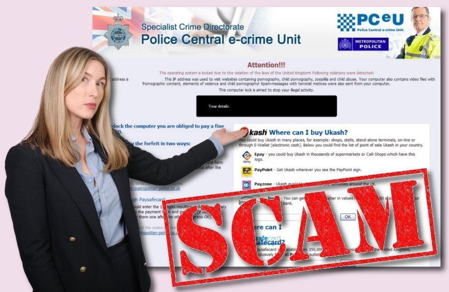 Police Central e-crime Unit virus snapshot