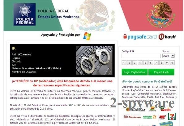 Policia Federal virus snapshot