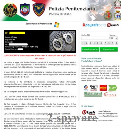 Polizia Penitenziaria virus snapshot