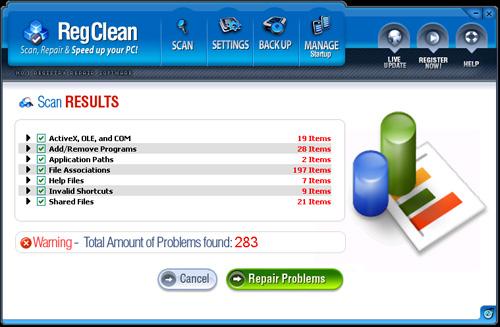 RegClean snapshot
