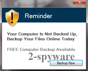 Reminder Your computer is not backed up snapshot