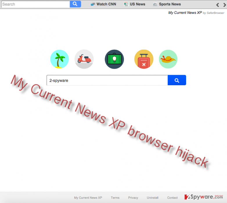 How to remove Search.mycurrentnewsxp.com virus