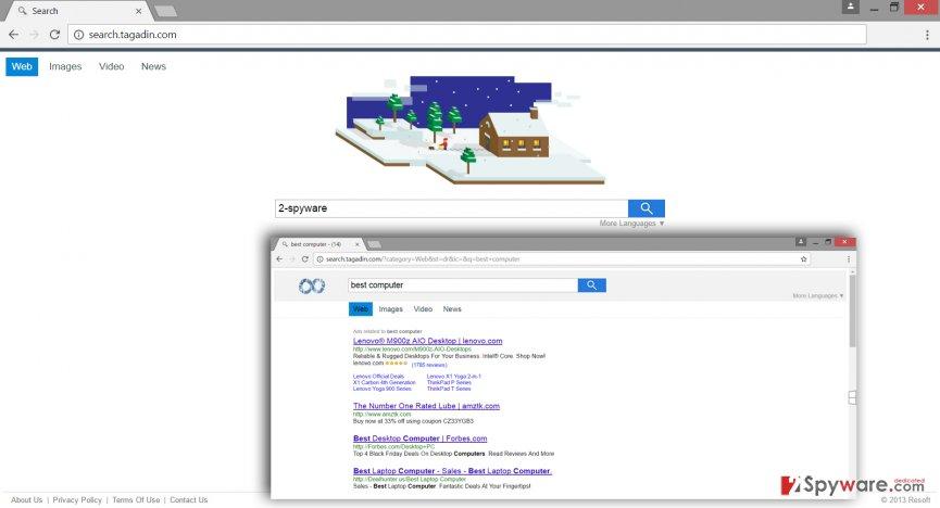 Image of Search.tagadin.com virus