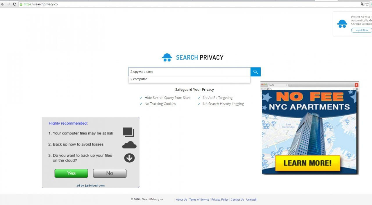 The image showing SearchPrivacy.co virus