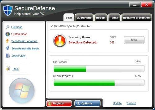 SecureDefense snapshot
