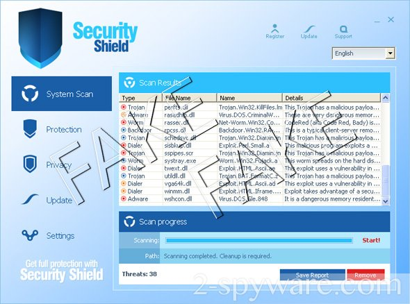 Security Shield snapshot