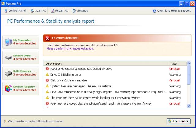 System Fix snapshot