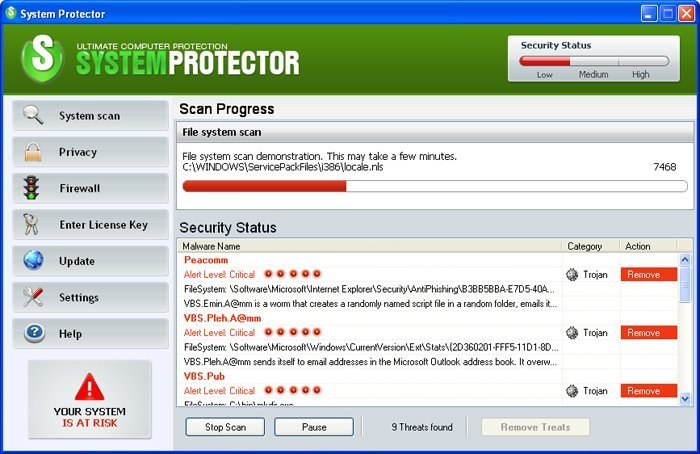 System Protector snapshot