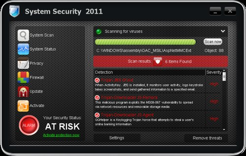System Security 2011 snapshot