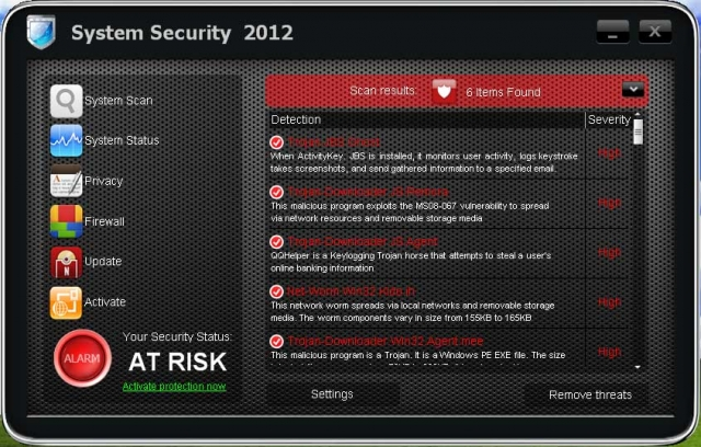 System Security 2012 snapshot