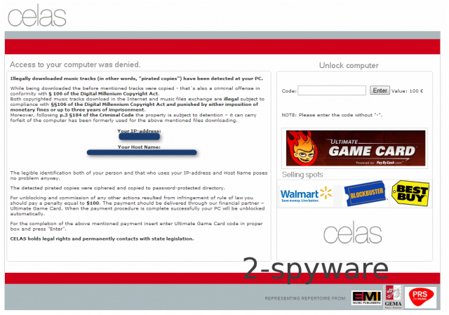 Ultimate Game Card Ransomware snapshot