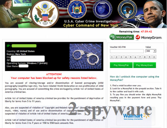 USA Cyber Crime Investigations virus snapshot