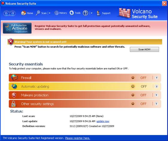 Volcano Security Suite snapshot