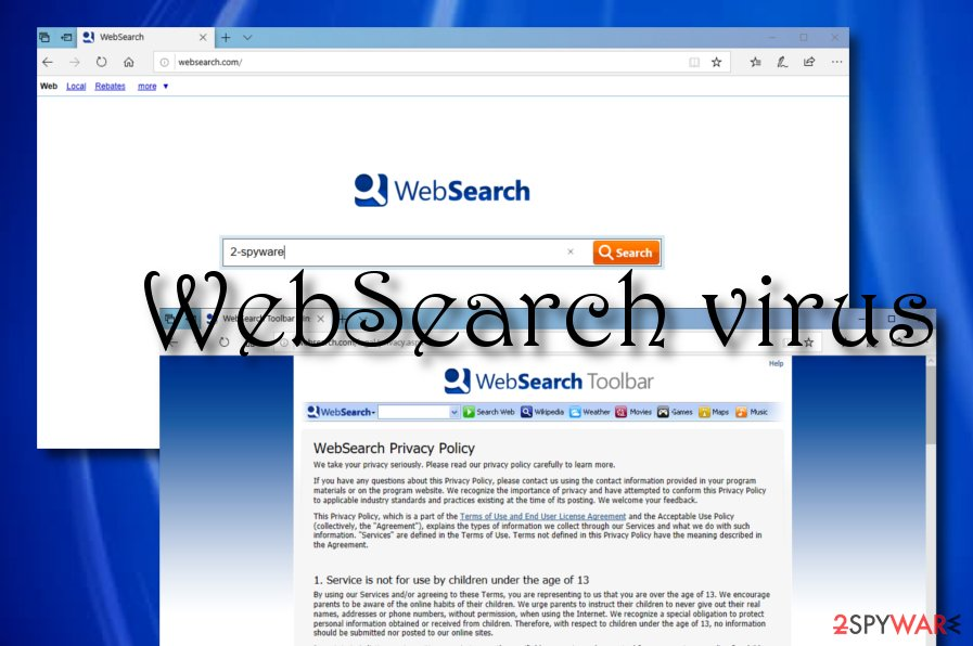 Websearch.com virus snapshot