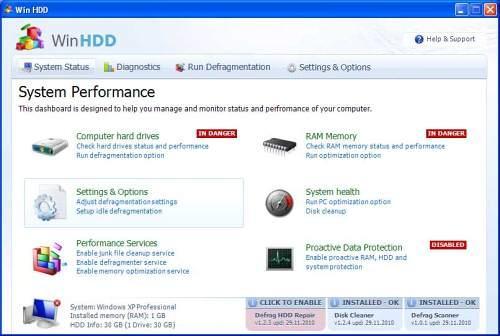 Win HDD snapshot
