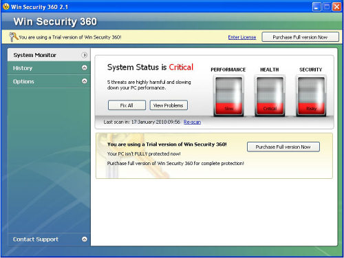 Win Security 360 snapshot