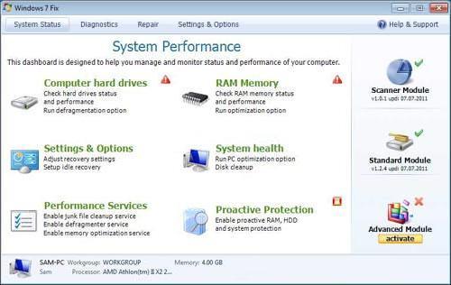 Windows 7 Fix snapshot
