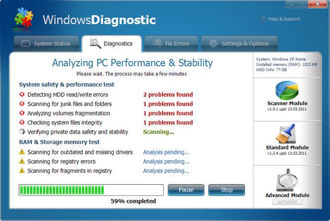 Windows Diagnostic snapshot