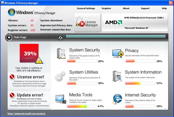 Windows Efficiency Manager snapshot