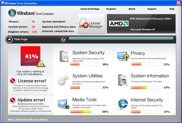Windows Error Correction snapshot