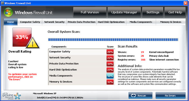 Windows Firewall Unit snapshot