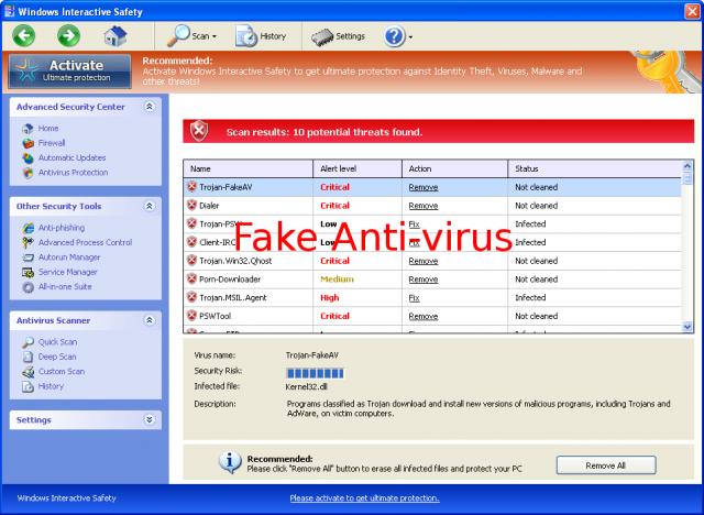 Windows Interactive Safety snapshot
