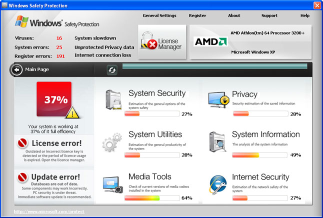Windows Safety Protection snapshot