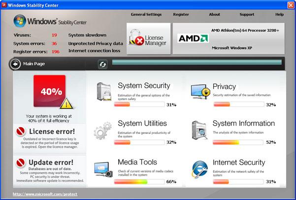 Windows Stability Center snapshot