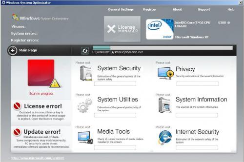 Windows System Optimizator snapshot