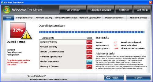 Windows Test Master snapshot