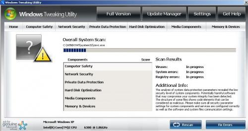 Windows Tweaking Utility snapshot