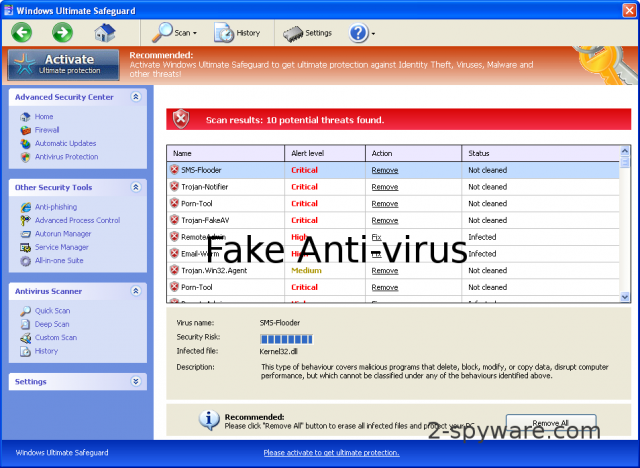 Windows Ultimate Safeguard snapshot