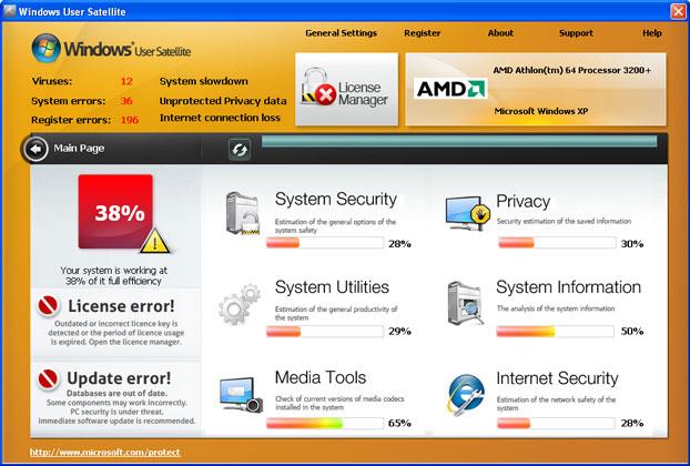 Windows User Satellite snapshot