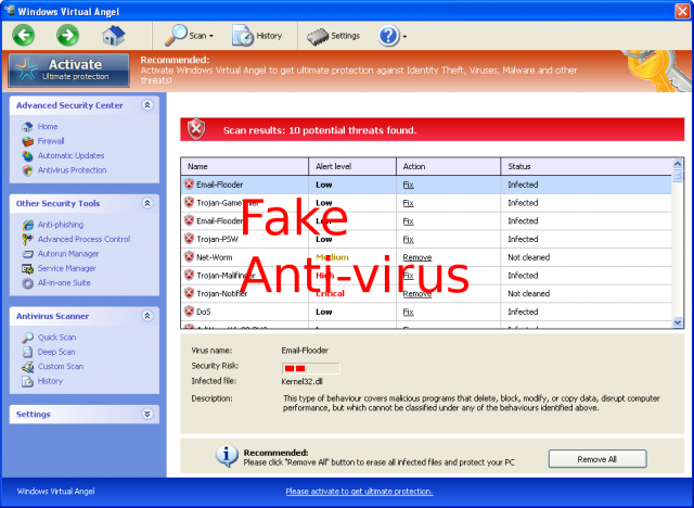Windows Virtual Angel snapshot