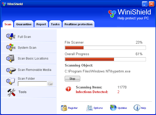 WiniShield snapshot