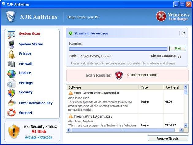 XJR Antivirus snapshot