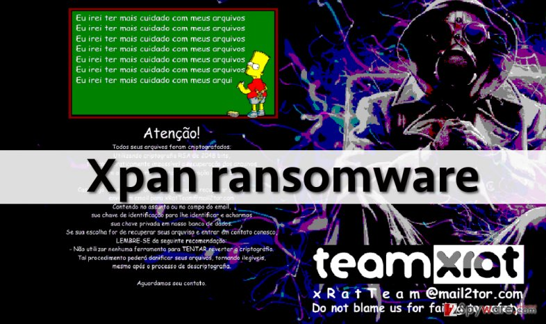The latest version of Team XRat is dubbed Xpan ransomware snapshot