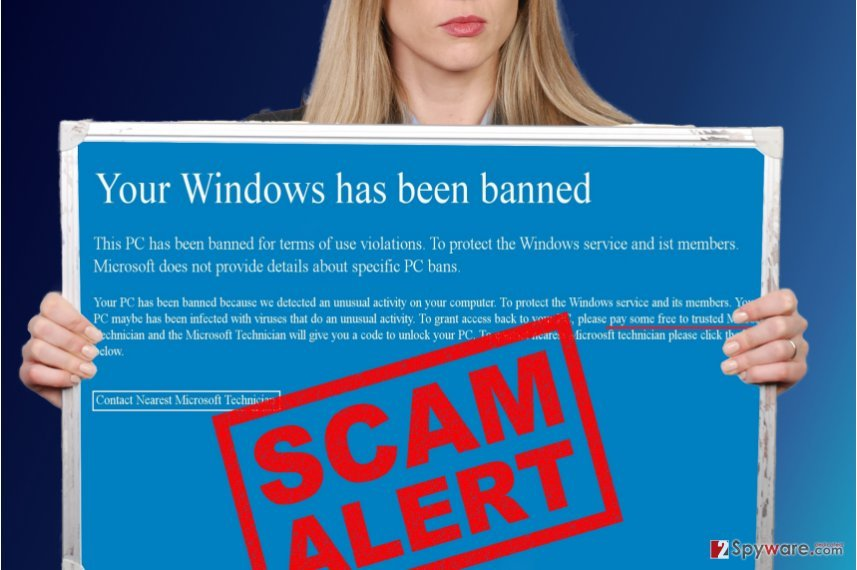 Your Windows Has Been Banned virus