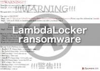 Kill LambdaLocker ransomware virus