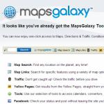 MapsGalaxy Toolbar snapshot