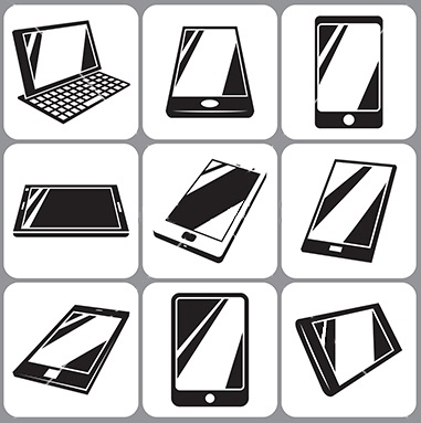 smartphone and tablet icons set