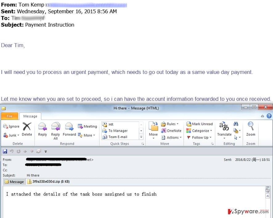 Task from boss spam