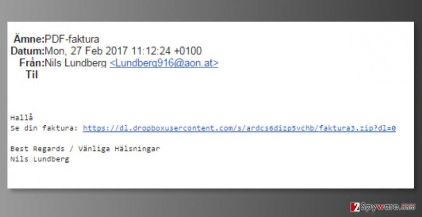 Mail spam targeting A1 Telekom users