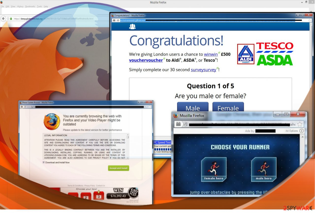 Ads on Mozilla Firefox browser