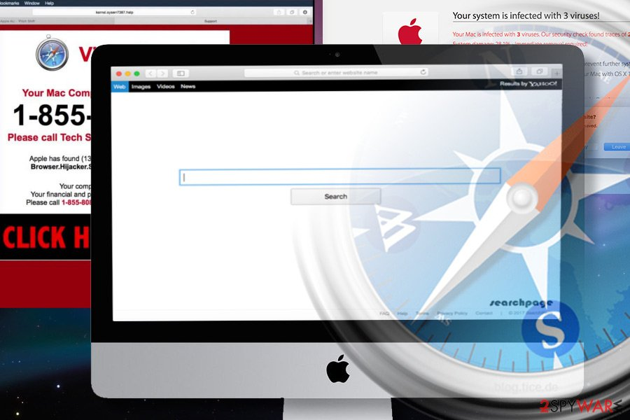 Safari browser infected with a browser hijacker