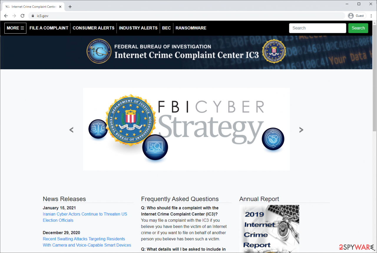 Internet Crime Complaint Center IC3