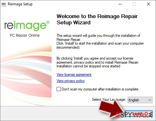 Reimage installation